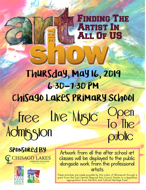Join us for our upcoming Art Show - May 16!