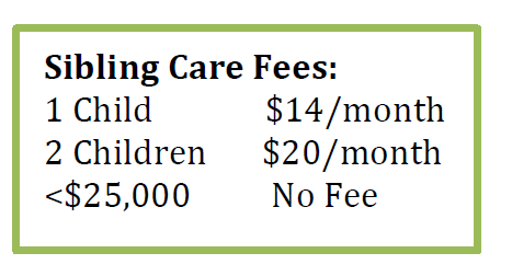 Monthly Sibling Care Fees